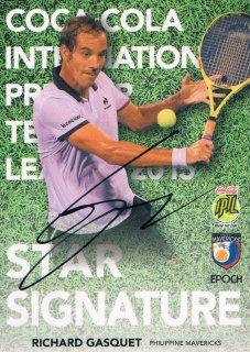 2015 EPOCH IPTL テニスカード Star Signatures Richard Gasquet 【26枚限定】 ミント渋谷店 マサ様