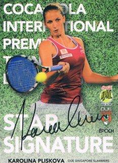 2015 EPOCH IPTL テニスカード Star Signatures Karolina Pliskova 【27枚限定】 ミント渋谷店 マサ様