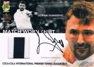 2015 EPOCH IPTL テニスカード Autographed Match-Worn Shirt  Goran Ivanisevic 【14枚限定】 ミント渋谷店 マサ様