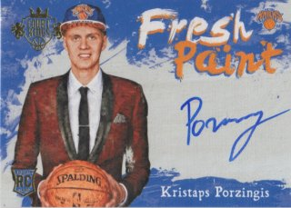 15-16 Panini Court Kings Fresh Paint Rookie Auto Card Kristaps Porzingis MINT梅田店 1CTいったった様