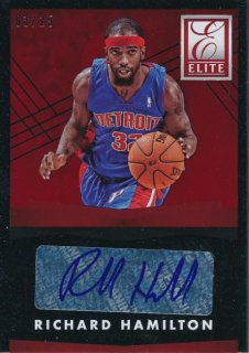 2015-16 PANINI DONRUSS Elite Red Auto Richard Hamilton【25枚限定】 Rookie Star RS54様