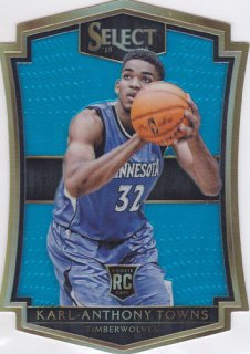 2015-16 Panini Select Karl-Anthony Towns ダイカットRookie Card 199枚限定 ポニーランド K様