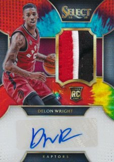 2015-16 PANINI SELECT RC Tye-Die Patch Auto Delon Wright 【25枚限定】Rookie Star RS61様