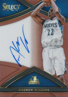 2015-16 PANINI SELECT Copper Auto Andrew Wiggins 【49枚限定】Rookie Star RS64様