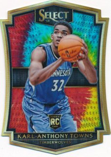 2015-16 PANINI SELECT RC Tye-Die Prizm Karl-Anthony Towns【 25枚限定】Rookie Star RS73様
