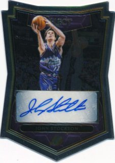 2015-16 PANINI SELECT Die Cut Auto John Stockton 【25枚限定】Rookie Star RS74様