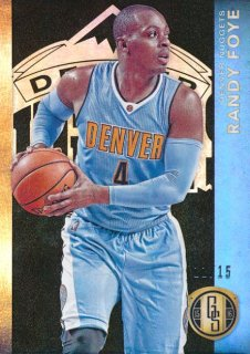 2015-16 PANINI GOLD STANDARD Black Parallel Randy Foye 【15枚限定】Rookie Star RS75様