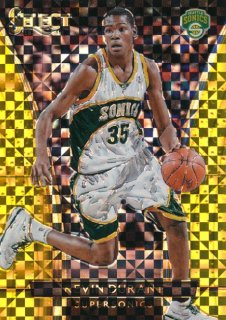 2015-16 PANINI SELECT Gold Prizm Kevin Durant 【10枚限定】Rookie Star RS22様