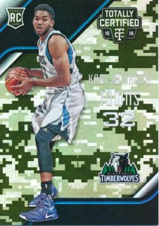 2015-16 PANINI TOTALLY CERTIFIED RC Camo Karl-Anthony Towns 【25枚限定】Rookie Star RS54様
