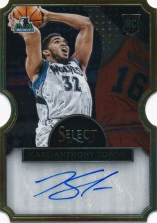 2015-16 PANINI SELECT RC Die Cut Auto Karl-Anthony Towns 【60枚限定】Rookie Star RS1様