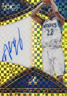 2015-16 PANINI SELECT Gold Auto Andrew Wiggins 【10枚限定】Rookie Star RS9様