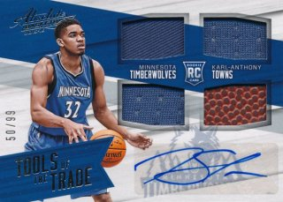 2015-16 PANINI ABSOLUTE RC Jersey Ball Auto Karl-Anthony Towns 【99枚限定】Rookie Star RS17様