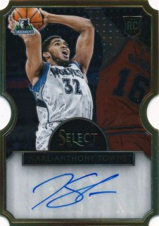 2015-16 PANINI SELECT RC Die Cut Auto Karl-Anthony Towns 【60枚限定】Rookie Star RS16様