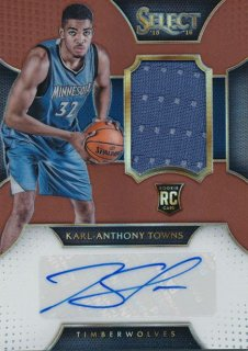 2015-16 PANINI SELECT RC Copper Jersey Auto Karl-Anthony Towns 【49枚限定】Rookie Star RS69様