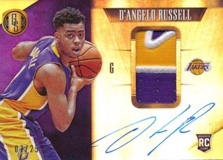 2015-16 PANINI GOLD STANDARD RC Patch Auto D'Angelo Russell 【25枚限定】Rookie Star RS75様