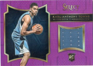 2015-16 Select Rookie Swatches Prizms Purple Karl-Anthony Towns【99枚限定】 ミント千葉店 1093様