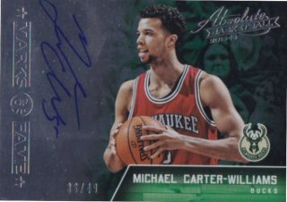 2015-16 PANINI ABSOLUTE MARKS OF FAME AUTOGRAPHS Michael Carter-Williams 【49枚限定】 / MINT池袋店 y@ma様