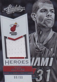 2015-16 PANINI ABSOLUTE HEROES MATERIALS Shane Battier 【99枚限定】 / MINT池袋店 バス太郎様