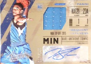 2015-16 PANINI Frequent Flyer Jersey Autographs  KARL-ANTHONY TOWNS 【149枚限定】/MINT立川店 ニツ様