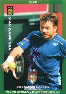 2015 EPOCH IPTL テニスカード ピンク箔サインカード Stan Wawrinka ミント札幌店 キャボション様
