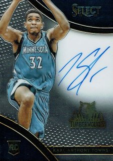 15-16 SELECT Auto Karl-Anthony Towns【199枚限定】えびすスポーツカード yosh様