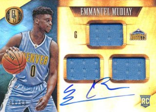 2015-16 PANINI GOLD STANDARD RC Jersey Auto Emmanuel Mudiay【99枚限定】 Rookie Star RS3様