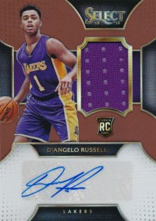 2015-16 PANINI SELECT RC Copper Jersey Auto D'Aangelo Russell 【49枚限定】Rookie Star RS9様