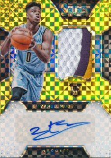 2015-16 PANINI SELECT RC Gold Patch Auto Emmanuel Mudiay 【10枚限定】Rookie Star RS50様