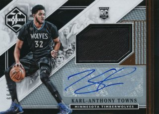2015-16 PANINI LIMITED RC Jersey Auto Karl-Anthony Towns 【99枚限定】Rookie Star RS3様