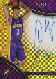2015-16 PANINI SELECT RC Gold Auto D'Angelo Russell 【10枚限定】Rookie Star RS16様