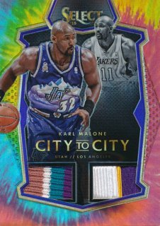 2015-16 PANINI SELECT Tye-Die Patch Karl Malone 【25枚限定】Rookie Star RS50様