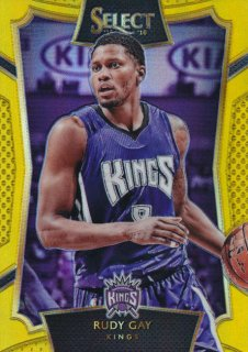 2015-16 PANINI SELECT Gold Rudy Gay 【10枚限定】Rookie Star RS12様
