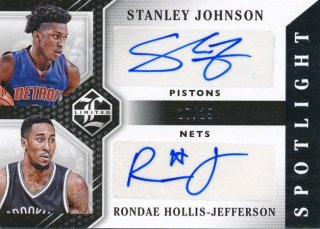 2015-16 PANINI LIMITED Dual Auto Stanley Johnson Jefferson 【25枚限定】Rookie Star RS28様