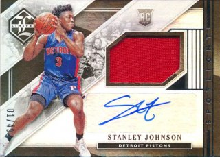 2015-16 PANINI LIMITED RC Jersey Auto Stanley Johnson 【49枚限定】Rookie Star RS28様