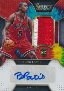 2015-16 PANINI SELECT RC Tye-Die Patch Auto Bobby Portis 【25枚限定】Rookie Star RS54様