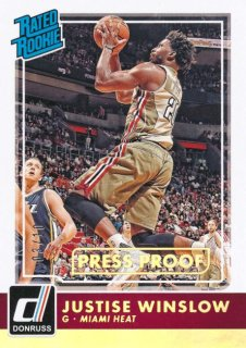 2015-16 PANINI DONRUSS RC Press Proof Justise Winslow 【10枚限定】Rookie Star RS60様