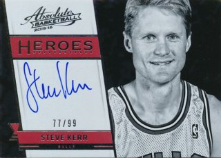 2015-16 PANINI ABSOLUTE Heroes Auto Steve Kerr【99枚限定】 Rookie Star RS61様