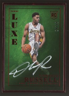 2015-16 Panini LUXE D'Angelo Russell Red Framed Auto 【49枚限定 】コレトレ CP3様