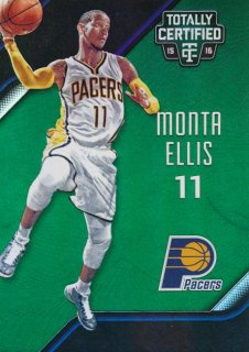 2015-16 PANINI TOTALLY CERTIFIED Green Monta Ellis 【5枚限定】Rookie Star RS66様
