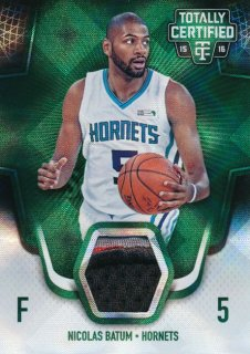 2015-16 PANINI TOTALLY CERTIFIED Green Patch Nikolas Batum【 5枚限定】Rookie Star RS66様