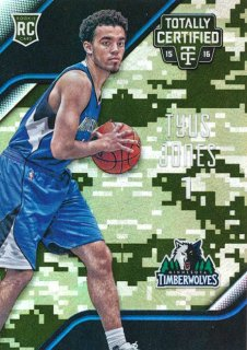 2015-16 PANINI TOTALLY CERTIFIED RC Camo Tyus Jones 【25枚限定】Rookie Star RS66様