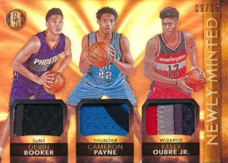 2015-16 PANINI GOLD STANDARD Patch Booker Payne Oubre 【25枚限定】Rookie Star RS67様