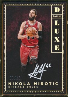 2015-16 PANINI LUXE Auto Nikola Mirotic 【25枚限定】Rookie Star RS67様