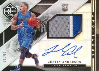 2015-16 PANINI LIMITED RC Patch Auto Justin Anderson【10枚限定】 Rookie Star RS2様