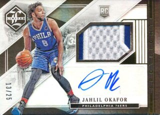 2015-16 PANINI LIMITED RC Patch Auto Jahlil Okafor【 25枚限定】Rookie Star RS28様