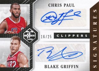 2015-16 PANINI LIMITED Dual Auto Chris Paul Blake Griffin 【25枚限定】Rookie Star RS38様