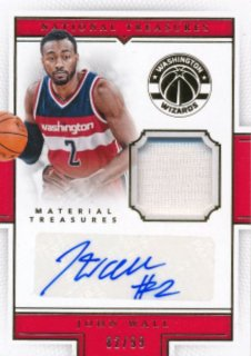 2015-16 PANINI NATIONAL TREASURES Jersey Auto John Wall 【99枚限定】Rookie Star RS61様