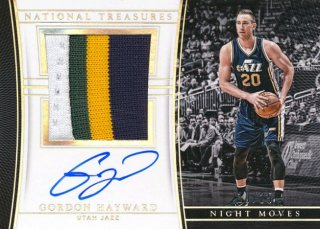 2015-16 PANINI NATIONAL TREASURES Patch Auto Gordon Hayward【 25枚限定】Rookie Star RS66様