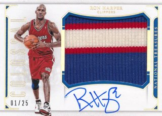 2015-16 PANINI NATIONAL TREASURES Patch Auto Ron Harper 【25枚限定】Rookie Star RS66様