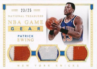 2015-16 PANINI NATIONAL TREASURES Patch Patrick Ewing 【25枚限定】Rookie Star RS66様